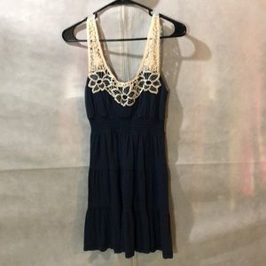 🌸Cute Navy Sundress With Crochet Straps🌸